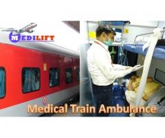 Reliable and Safest Train Ambulance Service in Guwahati by Medilift