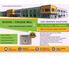 Automatic School Bell with Voice Announcement - Aura Business Solutions