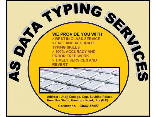 Accurate Typing Services Online and offline.