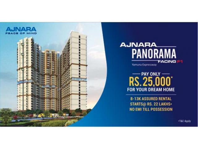 Buy 2 BHK Apartments @22 Lacs* In Ajnara Panorama at Yamuna Expressway