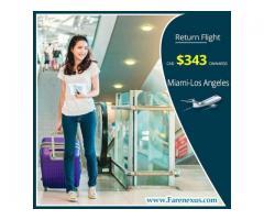 Cheap air tickets | Miami-Los Angeles | CAD $343 Onwards
