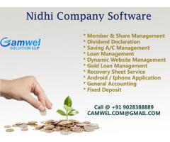 Nidhi company software at small banking management.