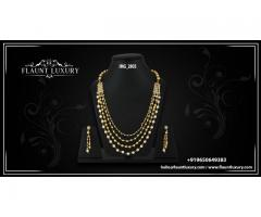 Buy Gold and Diamond Necklaces For Women in Delhi NCR, India - Flaunt Luxury