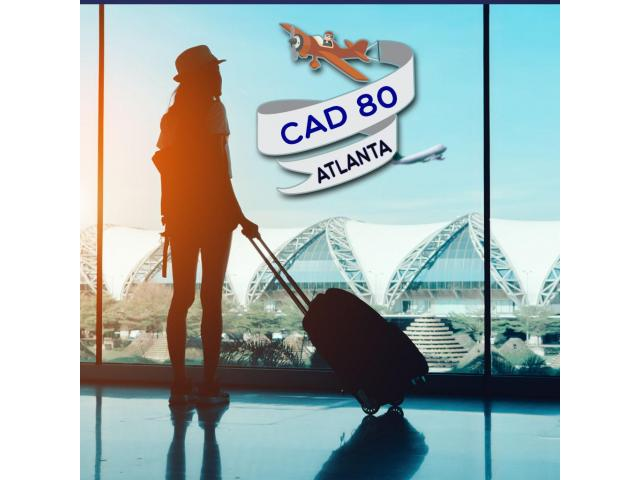 Cheap return air ticket Orlando-Atlanta CAD $80 Onwards