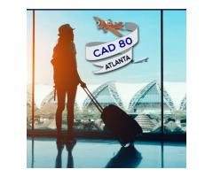 Cheap return air ticket Orlando-Atlanta CAD $80 Onwards