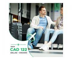 Return Flight Dallas - Chicago CAD $122 Onwards