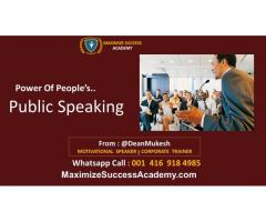 Public-speaking classes for Corporate sector