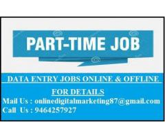 Part Time Home Based Data Entry Job.