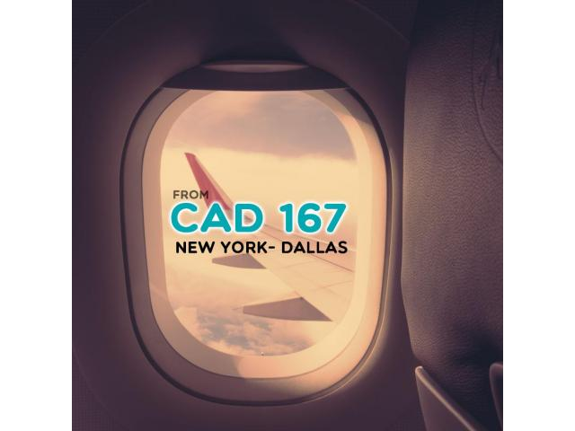 Book Return  flight  New York- Dallas CAD $167 Onwards