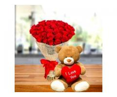 Send Valentine Gifts Roses Chocolate Teddy to Vellore