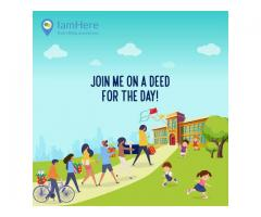 Iamhere hyperlocal Neighbourhood Meetup app. events near me | people near me