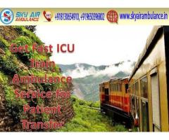 Get Sky Train Ambulance Service in Kolkata at Low Fare
