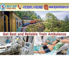 Get Emergency Sky Train Ambulance Service in Dibrugarh with full Medical Setup