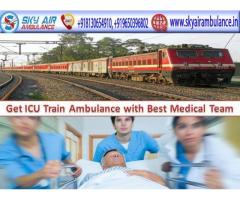 Get 24X 7 Emergency Sky Train Ambulance Service in Silchar