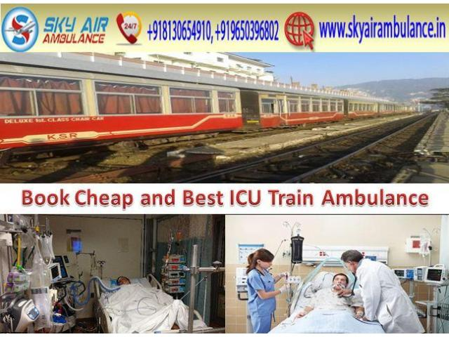 Get Sky Train Ambulance Service in Gorakhpur for 24-Hours Emergency Service