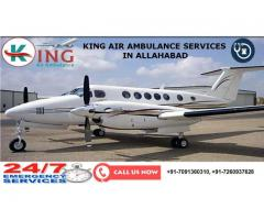 Air Ambulance service in Allahabad by King Air Ambulance