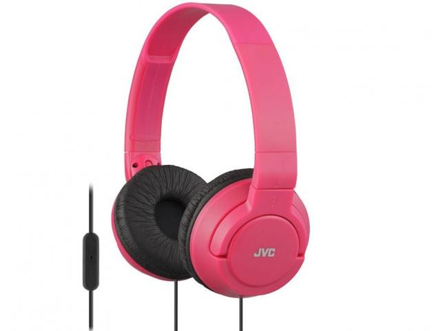 Shop Now! JVC HASR185 Lightweight Powerful Bass Red Headphones with Remote and Microphone