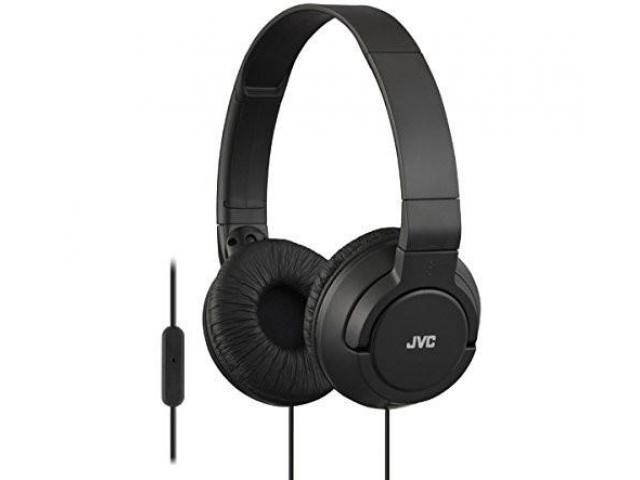 Shop Now! Get JVC Foldable Black Headphones with Microphones - Annova India