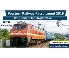 Western Railway Recruitment 2019 | WR (10734) Group-D Jobs Notification