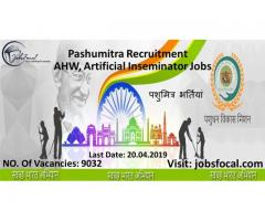 Pashumitra Recruitment 2019 (9032) AHW, Artificial Inseminator Jobs