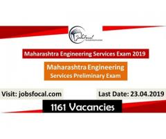 Maharashtra Engineering Services Preliminary Exam 2019 1161 MPSC Engg