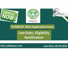 TS PGECET 2019 Application Form, Last Date, Eligibility Notification