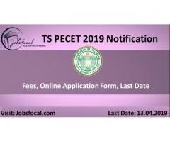 TS PECET 2019 Notification, Fees, Online Application Form, Last Date