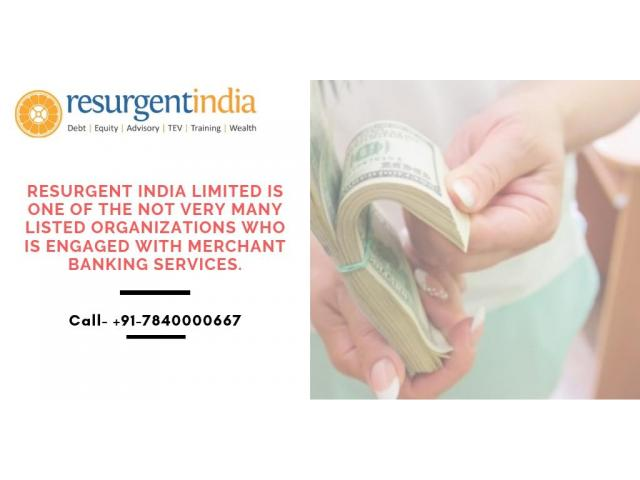 We provide merchant banking services in India