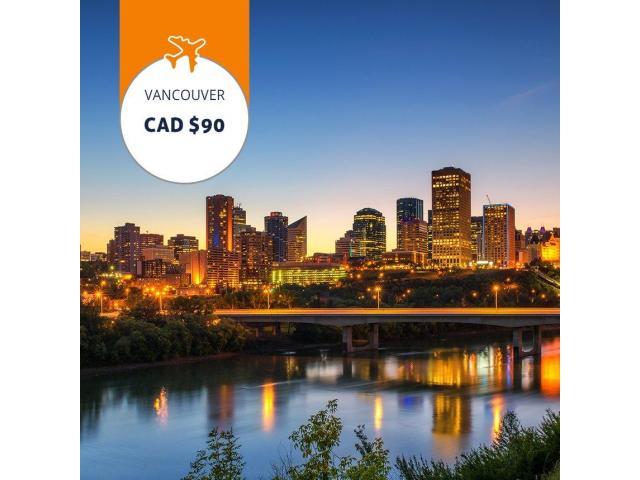 Edmonton - Vancouver Book flights from C$90