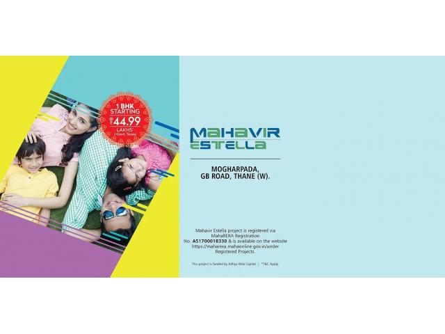 Mahavir Estella - Studio &1 BHK Flats in Thane Ghodbundar Road
