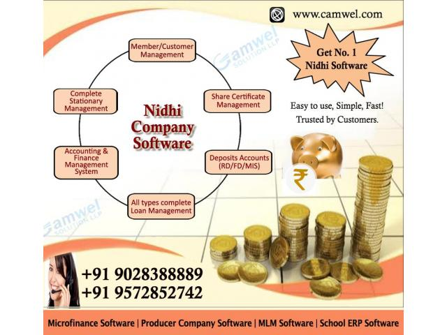 Get No 1 Nidhi Company Software by Camwel