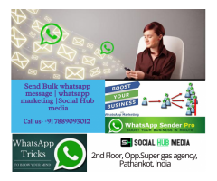 Bulk whatsapp marketing messenger | whatsapp marketing | Social hub media