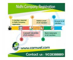 Nidhi Company Registration in 15 days By Camwel Solution