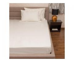Buy Cotton Bed Sheet King size with 2 Pillow Covers