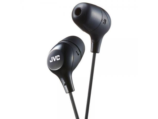 Buy JVC HAFX38B Black Marshmallow In-Ear HEADPHONES Original High Quality