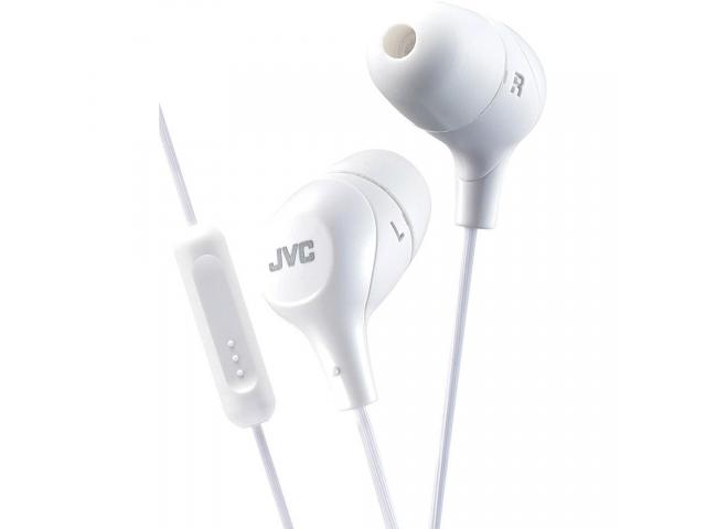 Buy JVC HAFX38MW WHITE Marshmallow In-Ear headphones with Remote, Mic. | Annova.co.in