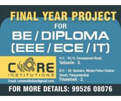 THE NO .1 PROJECT CENTER IN TUTICORIN