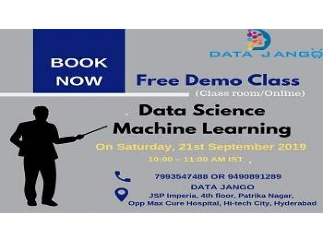 Free Demo classes on Data Science  by Experts at DataJango In Hyderabad on this weekend @10AM