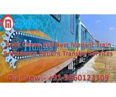 Take Urgent Relocate by Medivic Train Ambulance Patna to Delhi at Low Cost