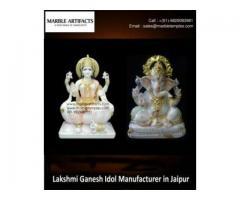Marble Lakshmi Ganesh Idol-MarbleTemples