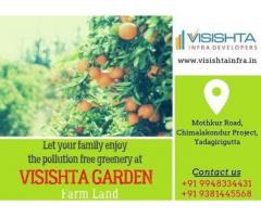 Visishta Garden farmland near Bibinagar|Yadadri-Visishta Infra Developers Hyderabaad