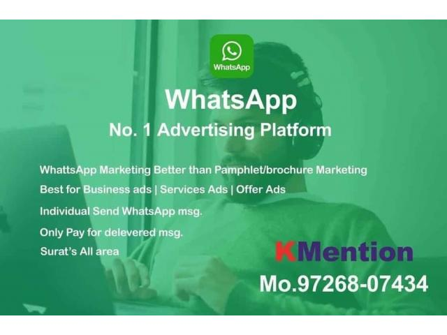 WhatsApp Marketing-Pamphlet Marketing in Surat By KMention