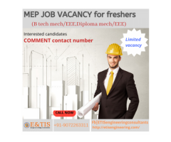 MEP Job openings for freshers in kerala/abroad|Urgent requirement