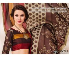 Printed Sarees Online at best price from Fab Funda