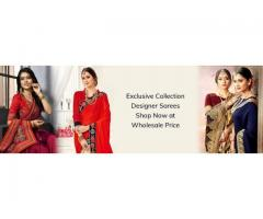 Buy Designer Sarees Online in India | Designer Sarees Wholesalers from Fab Funda