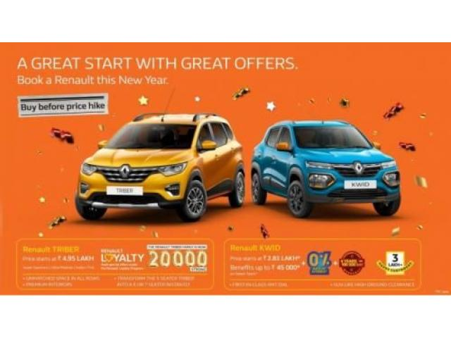 Start your 2020 with Great offers from Renault India