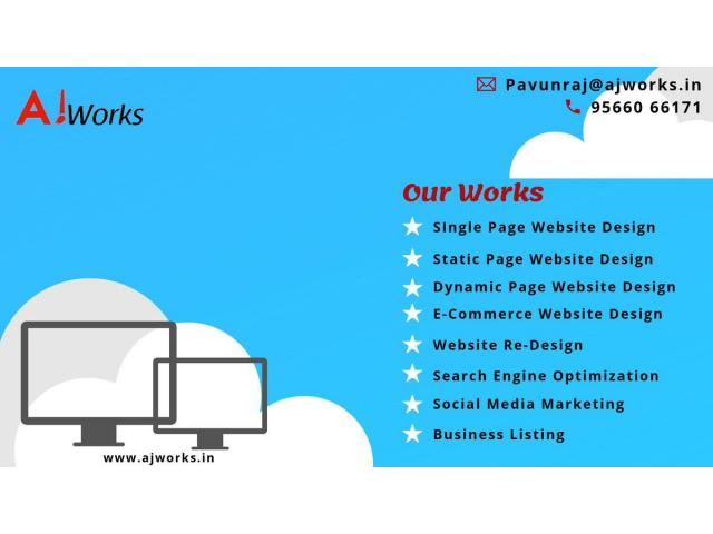 Best Webdesign and development company chennai   Ajworks