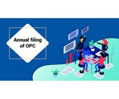 Annual filing for One Person Company