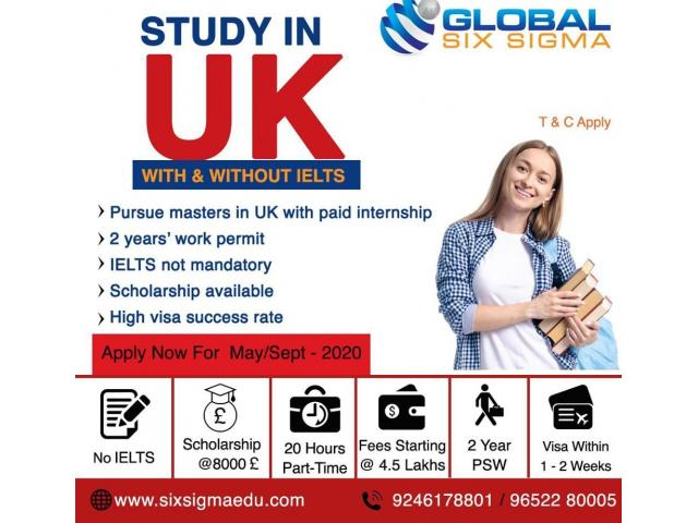 Study master degree in UK with guidance from Global Six Sigma Consultants