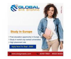 Study in Europe with IELTS requirement with assistance from Global Six Sigma Consultants